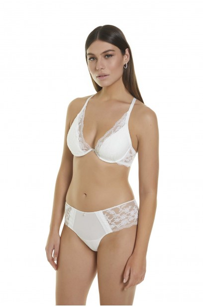 STRAPLESS PUSH UP BRA WITH CONTINUOUS UNDERWIRE