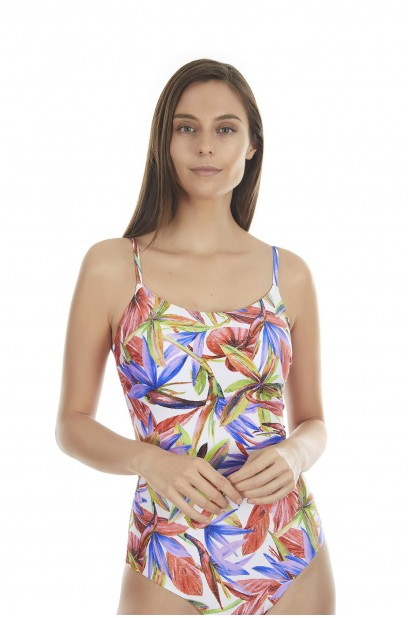 WIRELESS SQUARE NECKLINE SWIMSUIT